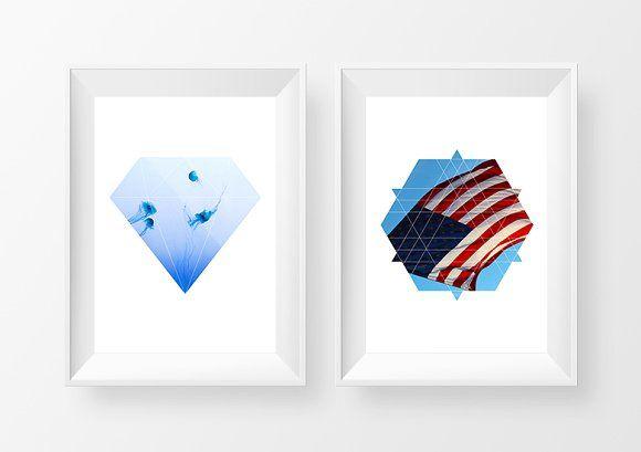 25 Geometric Photo Masks by Dreamstale on @creativemarket