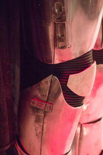 Phasma close-up leg armor detail