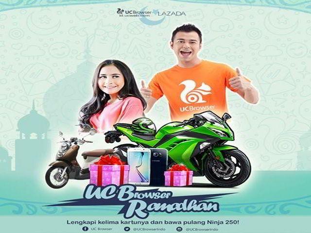 Kuis UC Browser Ramadhan Berhadiah Motor NINJA 250 - Di bulan Ramadhan ini UC Browser mau bagi-bagi hadiah dan THR nih. Pastikan kamu sudah download UC