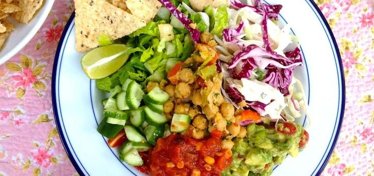 Vegan Taco Salad Bowls With Smokey Cashew Cream
