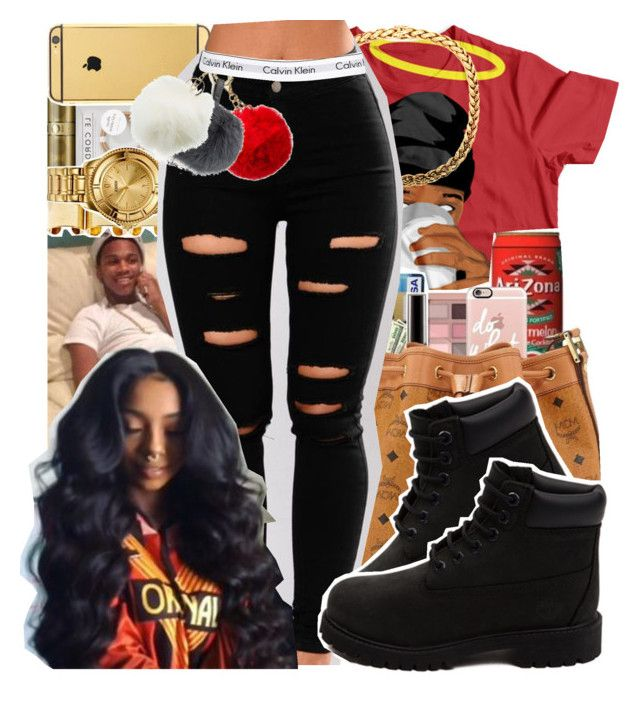 """Lil Snupe"" by bxby-girl-rielle ❤ liked on Polyvore featuring Timberland, Charlotte Russe and Calvin Klein Underwear"