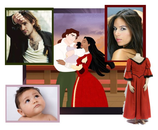 """Disney Families- Pocahontas and John Rolfe"" by misssally ❤ liked on Polyvore featuring art"