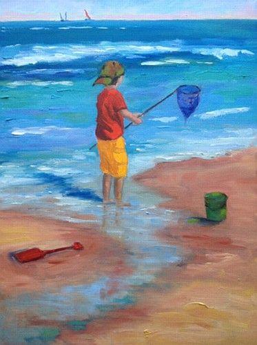 """Jane Meyler """"Catching The Breeze"""" #summer #art #beach #breeze #painting #waves #DukeStreetGallery"""
