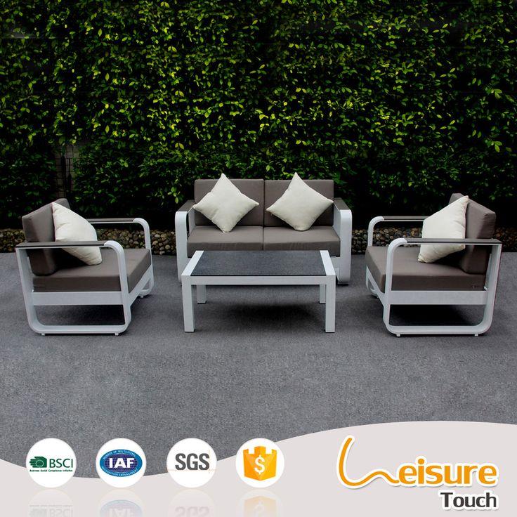 Modern design powder spraying aluminum B&R testilene garden sofa set
