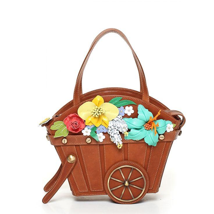 сумка-саквояж тема садовая тележка - Braccialini