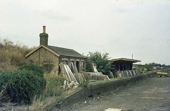 Chatteris Station in 1981 after it became derelict after it's closure in 1967.