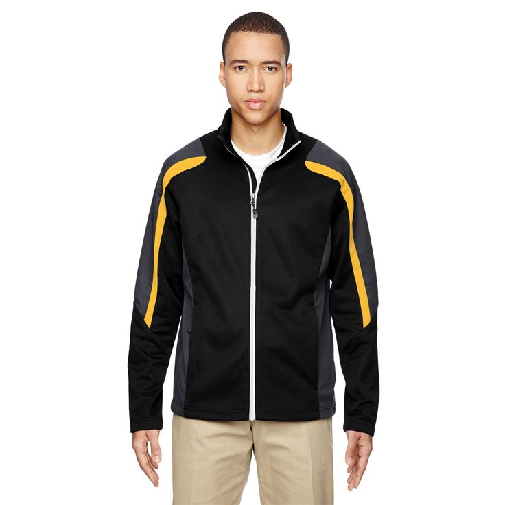 Strike Colorblock Fleece Men's /Campus Gold 464 Jacket