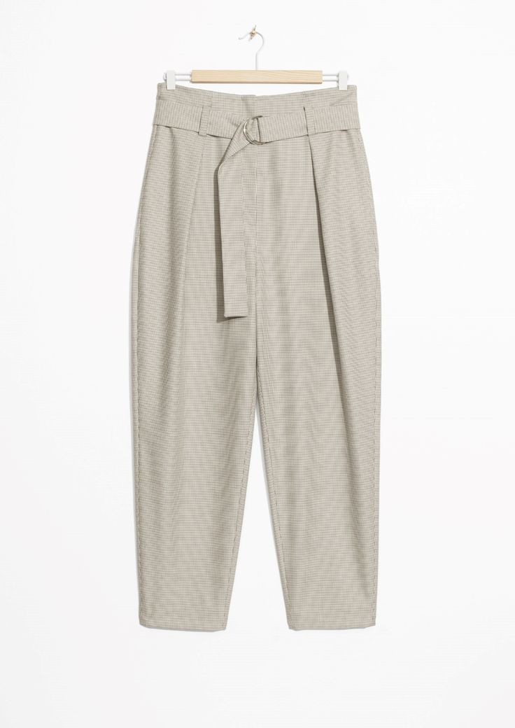 Other Stories image 1 of High Waist D-Ring Trousers in Grey