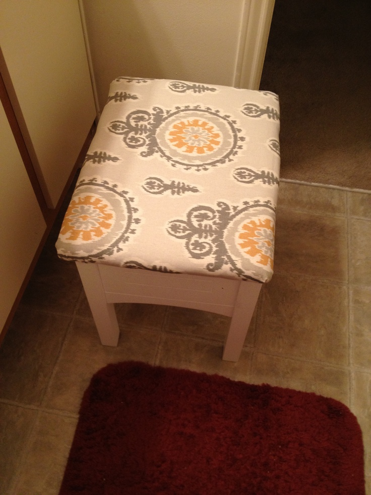 new seat cover for my vanity chair
