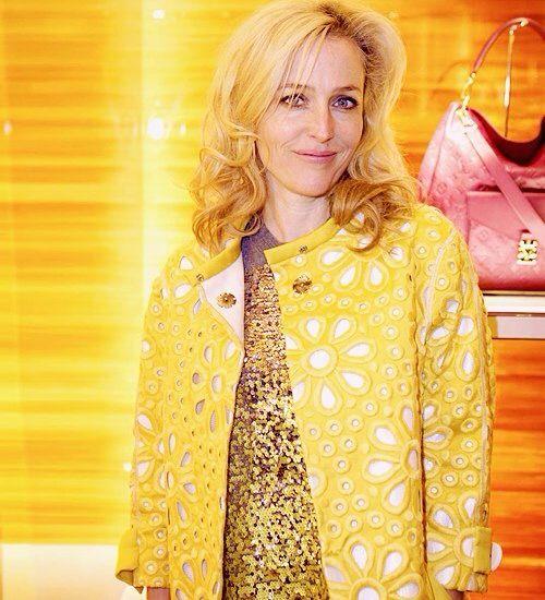 Gillian Anderson, launch party Louis Vuitton (07.11.2013)