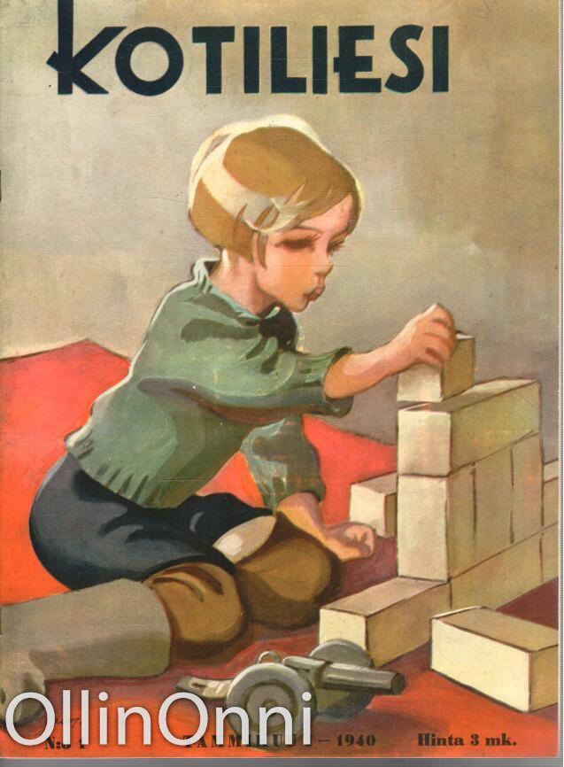 Kotiliesi 1/1940   Kansi Martta Wendelin