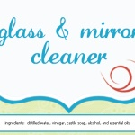 All natural glass and mirror cleaner! Uses vodka! (which is safer and healthier to use than ammonia or rubbing alcohol!)