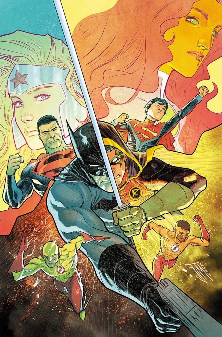 Batman Robin Superman Superboy Starfire Kid Flash -1105