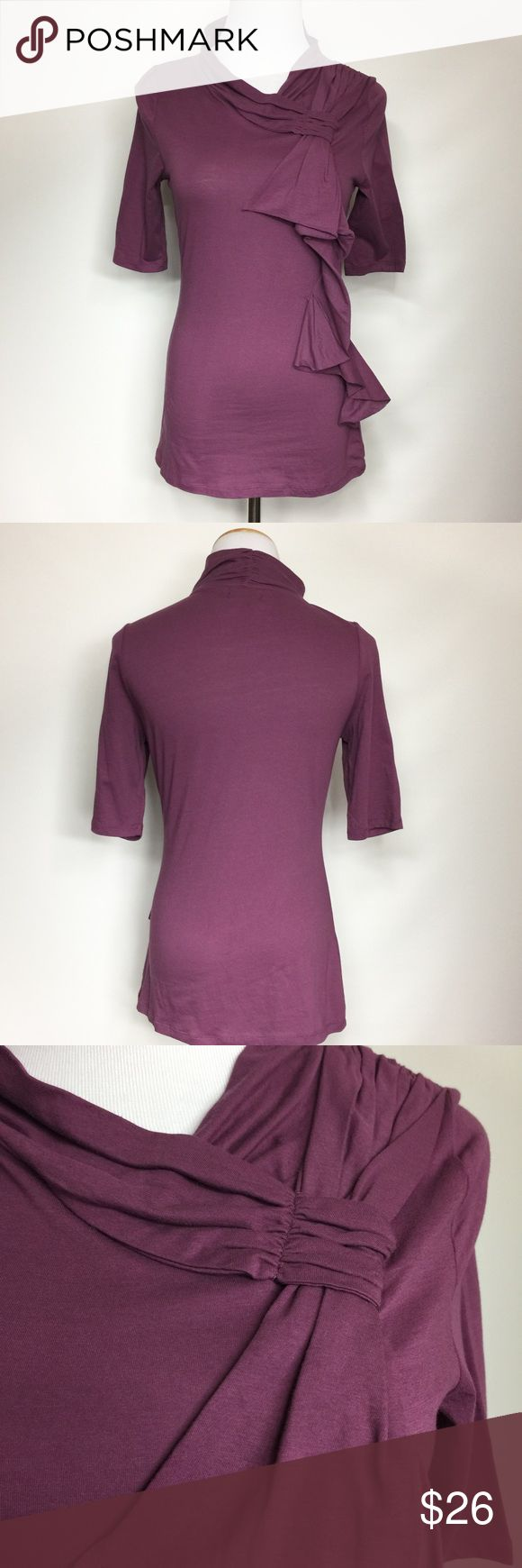 DELETTA BY ANTHROPOLOGIE PURPLE TOP Exc used condition. Anthropologie Tops Tees - Short Sleeve