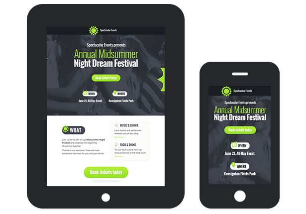 Dynamic and mobile friendly squeeze pages made with landing page generator