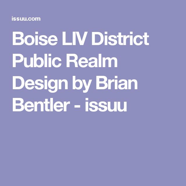 Boise LIV District Public Realm Design by Brian Bentler - issuu