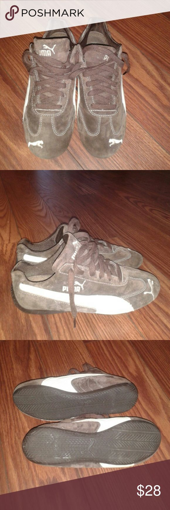 Pair of Brown Puma Sports Shoes Used but in good condition Puma brown suede sport shoes. Nice and clean. Puma Shoes Athletic Shoes