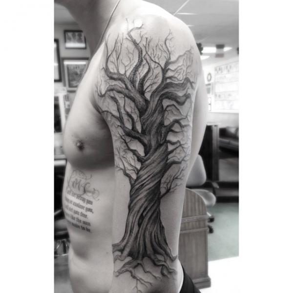 tree tattoos shoulder - Google Search