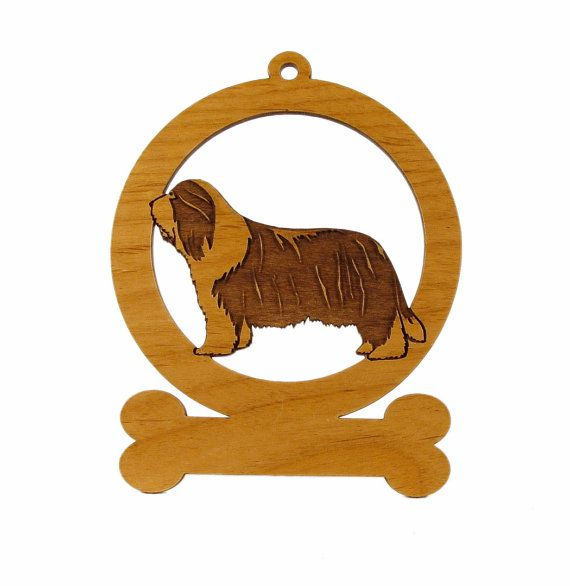 Bearded Collie Ornament 081545 Personalized by gclasergraphics, $9.50