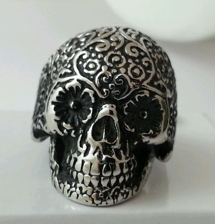 23 best big beehive designs images on pinterest gift boxes wine sugar skull day of the dead stainless steel ring men women free gift box negle Gallery