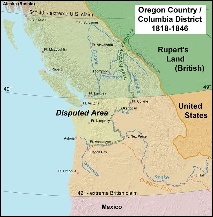 Claims on the Oregon Country, 19th Century. The Oregon boundary dispute or the Oregon Question, was a controversy over the political division of the Pacific Northwest of North America between several...