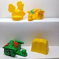 Fisher Price Little People Farm Parts Rooster Weather Vane Hay Bale Wheelbarrows