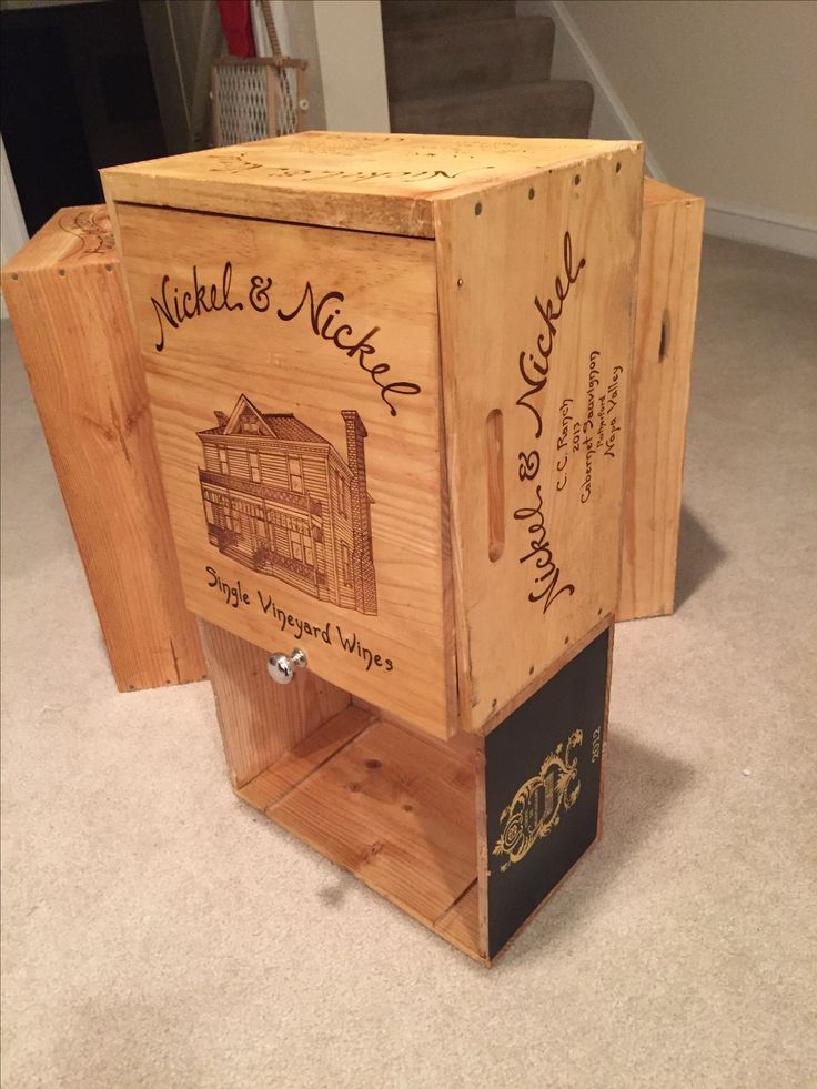 1000 ideas about crate side table on pinterest crates for Wooden crate end table