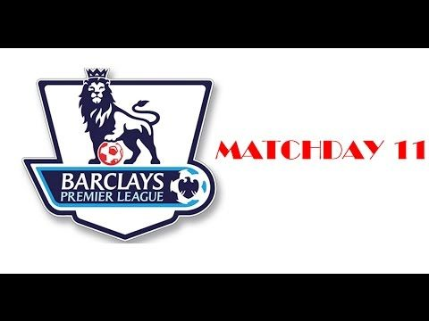 Premier league 2015 16 Results Matchday 11 Fixtures Tables