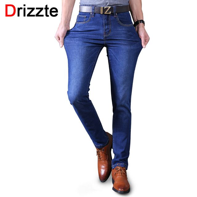 Fair price Drizzte Black Blue Mens Stretch Jeans Denim Brand designer Mens Slim Fit Jean Size 30 32 34 35 36 38 40 Pants Trousers Male just only $27.29 with free shipping worldwide  #jeansformen Plese click on picture to see our special price for you