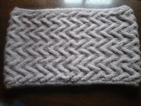 Как связать снуд спицами Образец Узор&How to tie a scarf pattern - YouTube