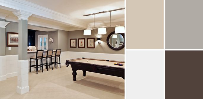 7 Basement color scheme ideas