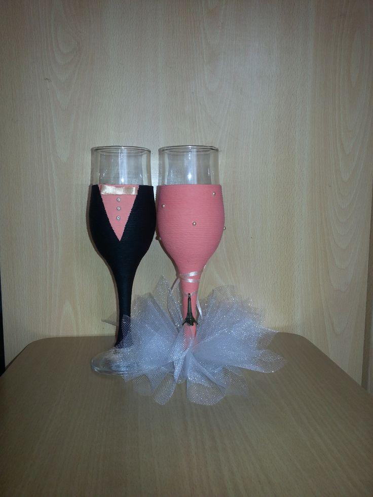 свадебные фужеры, wedding champagne glass