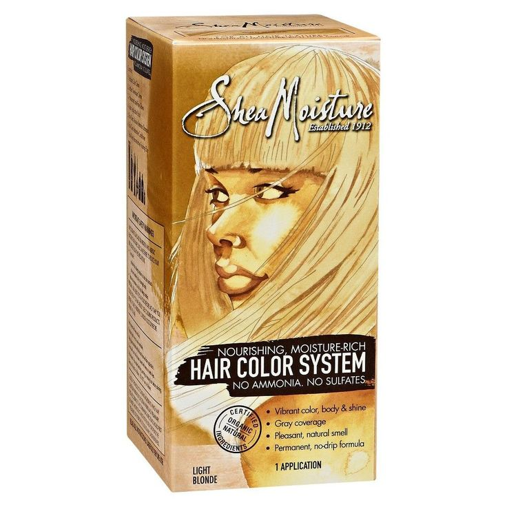 SheaMoisture Moisture-Rich, Ammonia-Free Hair Color System, Light Blonde