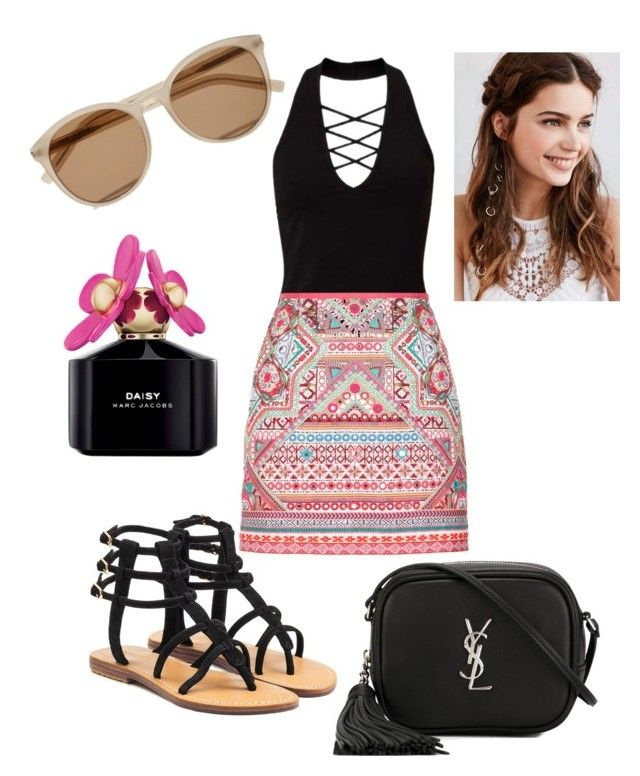 """Summer #yes"" by fashion-girl-katrina on Polyvore featuring Miss Selfridge, Accessorize, Mystique, Yves Saint Laurent, REGALROSE and Marc Jacobs"