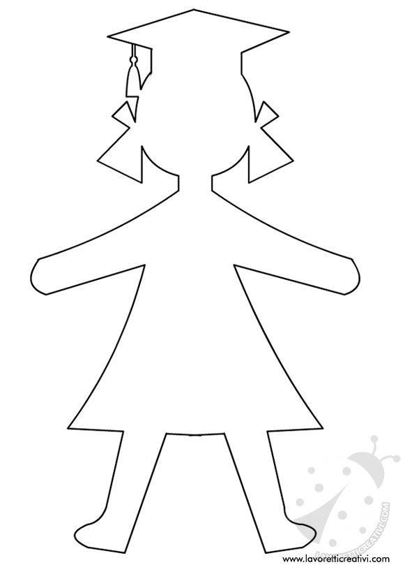 sagoma-bambina-cappello-laurea