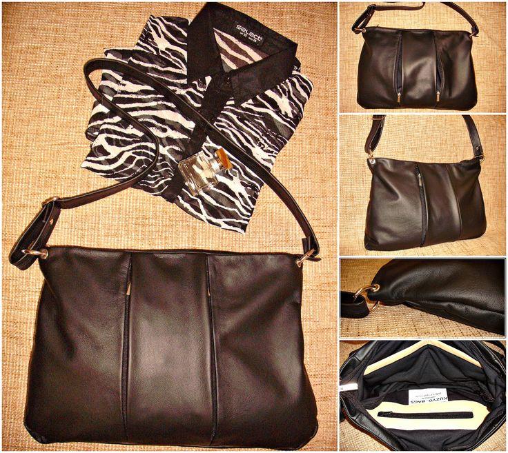 #kuzyo #bag #geniune #leather  #black #design #trendy #fashion #black