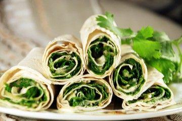рецепты закусок,холодные закуски,закуски к пиву,салат с кинзой,лаваш с начинкой,закуска из лаваша,лаваш с зеленью