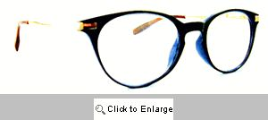 Dickens Small Round Reading Glasses - 522 Black/Blue