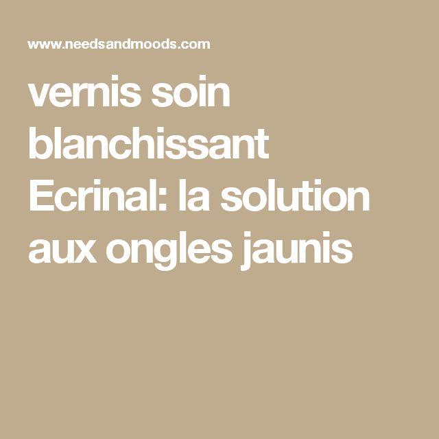 vernis soin blanchissant Ecrinal: la solution aux ongles jaunis