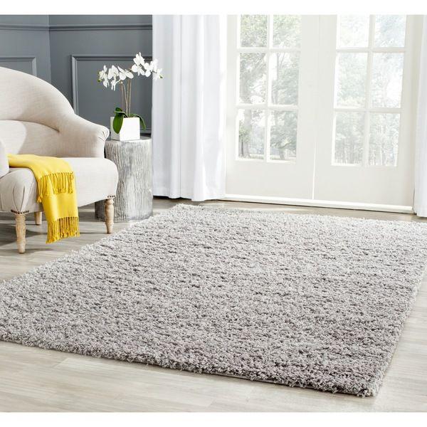 Safavieh Athens Shag Light Grey Rug (10' x 14') - Overstock Shopping - Great Deals on Safavieh 7x9 - 10x14 Rugs