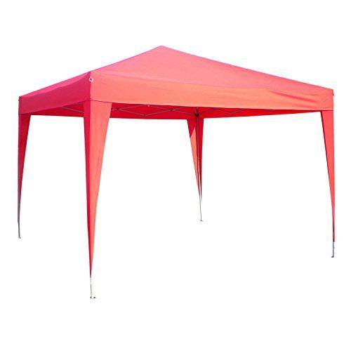 Homdox Gartenpavillon 3 x 3 m faltbar Campingzelt BBQ Faltpavillon Festzelt Partyzelt Garten Pavillon Klapp inkl. Tragetasche