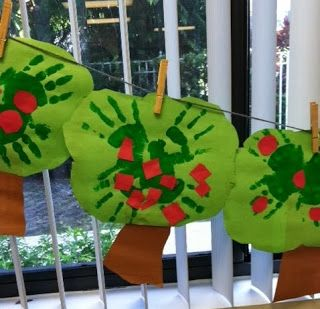 * Handprint Apple Tree Craft (from The Teacher's Backpack)