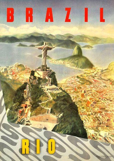Sta jezelf toe Mijmer; deze prachtige vintage Brazilië advertentie uit de vorige eeuw vangt de romantiek van reizen, en de allure van verre bestemmingen!  De afbeelding is professioneel gescand; vlekken zijn geraakt van, waar nodig, maar zonder afbreuk te doen aan de integriteit van het oorspronkelijke ontwerp.  De illustratie wordt afgedrukt op premie 200gsm satijn fotografische posterpapier, zonder randen - het beeld gaat naar de rand van het papier.  Kies uit twee maten:  -A4-formaat (210…