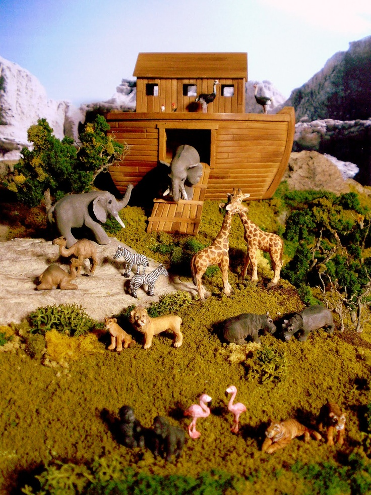 Best noah s ark minis images on pinterest ladder