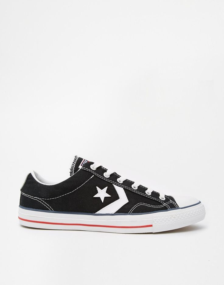 Shop Converse Cons Star Player Black Plimsoll Trainers at ASOS.