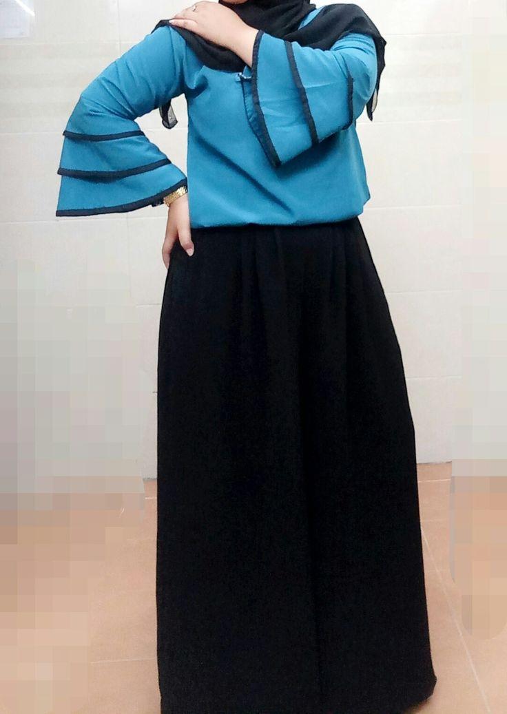 My style..  #hijab#tosca #stylehijab