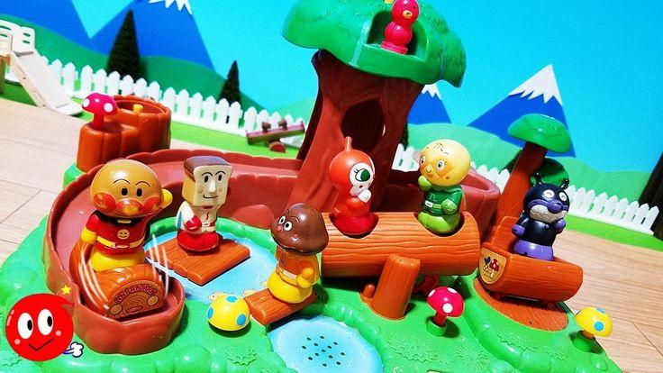 アンパンマンの珍しいおもちゃみーつけた!森の中のゆうえんち!のおしゃべり聞きながら遊ぼう♪人気キャラクター 滑り台 シーソー