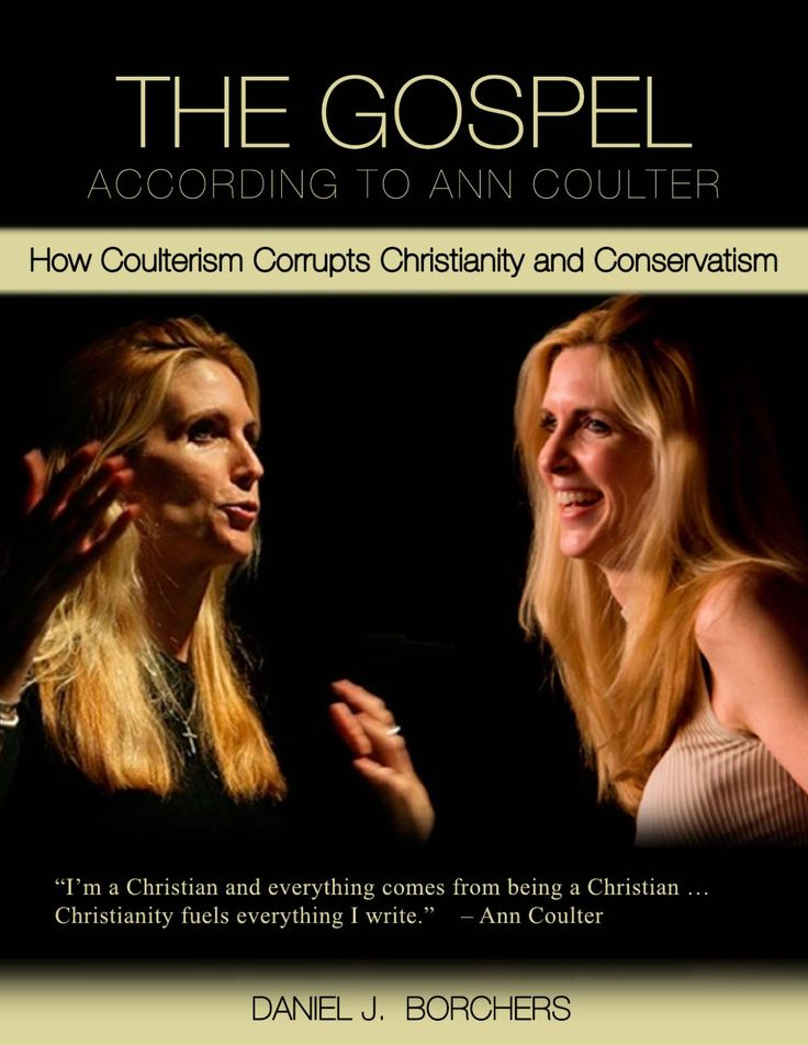 "Essay: ""The Gospel According to Ann Coulter"" at http://wp.me/p4jHFp-3d.  At the turn of this millennium, conservative pugilist Ann Coulter became a leader of the Religious Right, even as she denied its existence. With the publication of Godless (2006), Coulter was recognized as a Christian authority, despite displaying a pattern of unchristian behavior and promoting unbiblical doctrines.   Coulter's false theology invaded both the Church and Conservatism."