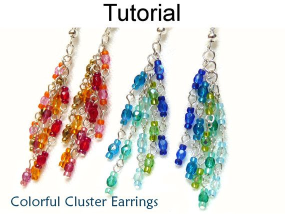 Beading Pattern Beaded Earrings Tutorial Wire Wrapped