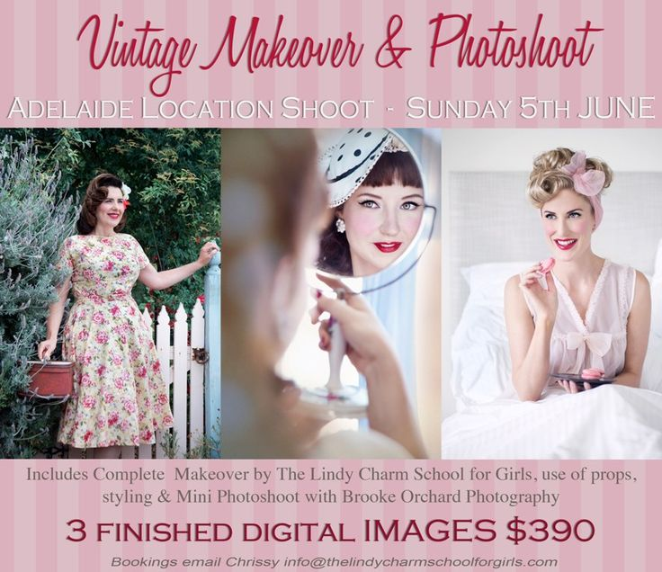 ADELAIDE – Pin Up & Vintage Makeover Plus A Photoshoot – Sunday 5 June 2016